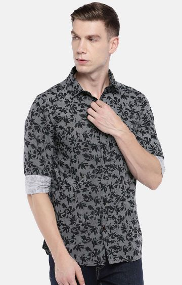 globus | Black Printed Casual Shirt