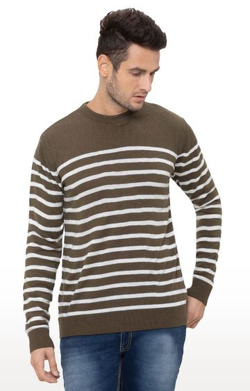globus | Olive Striped Sweater