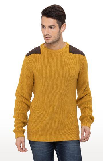 globus   Yellow Solid Sweater