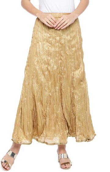 globus | Gold Solid Flared Skirt