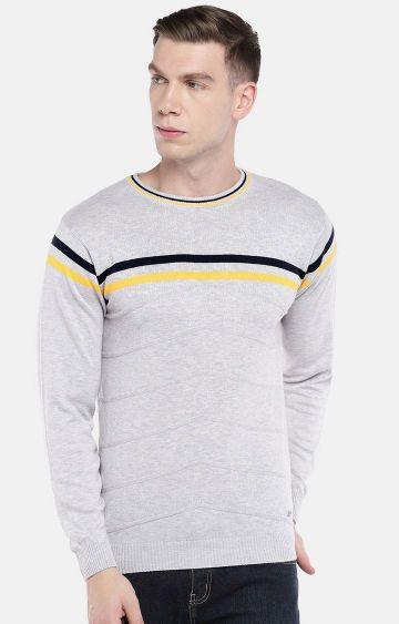 globus | Grey Striped Sweatshirt