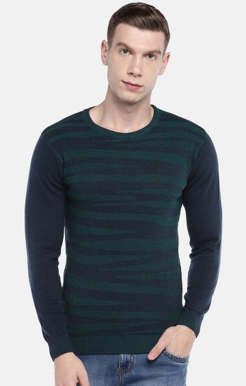 globus | Green and Navy Printed Sweatshirt