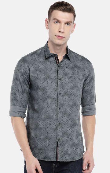 globus | Grey Printed Casual Shirt