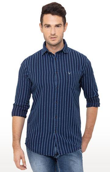 globus | Blue Striped Casual Shirt