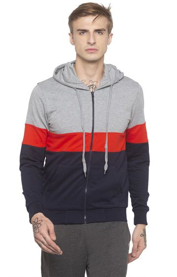 globus | Red Colourblock Hoodie