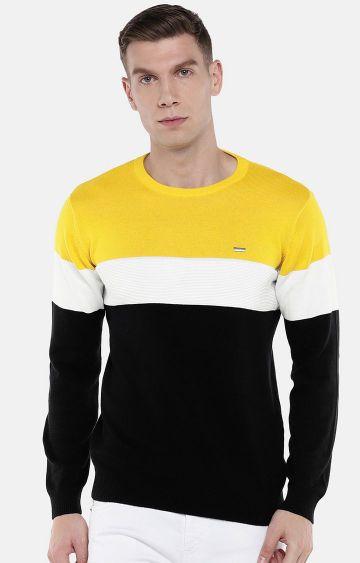 globus | Yellow and Black Striped Sweatshirt
