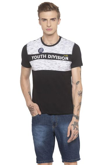 globus | Black Colourblock T-Shirt