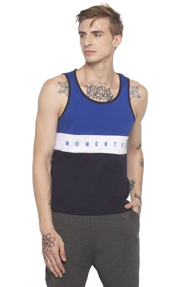 globus | Blue Colourblock T-Shirt