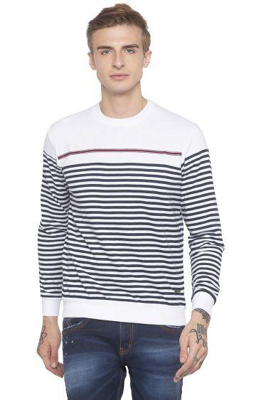 globus | White Striped T-Shirt