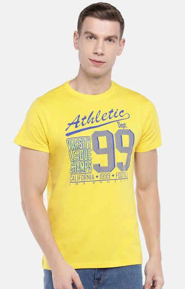 globus | Yellow Printed T-Shirt