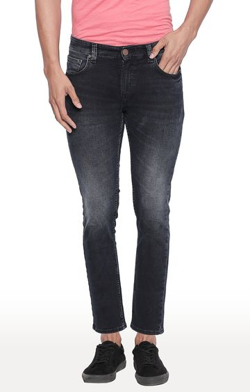 spykar | Spykar Dark Blue Solid Tapered Fit Jeans