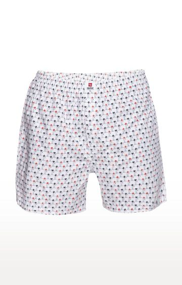 spykar | Spykar White Printed Slim Fit Boxers