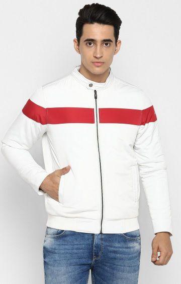spykar | Spykar White Solid Slim Fit Activewear Jackets
