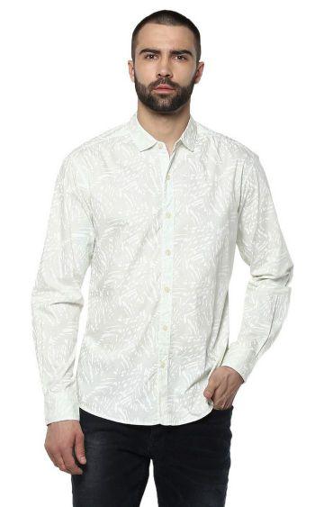 spykar   spykar Green Cotton Casual Shirts