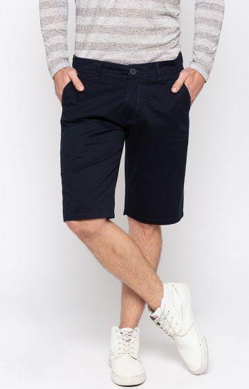 spykar | Spykar Navy Solid Shorts