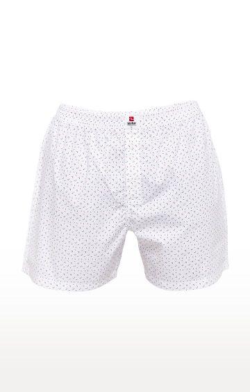 spykar   Spykar White Printed Slim Fit Boxers