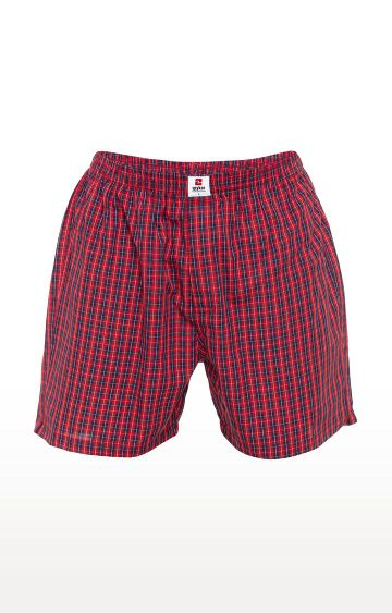 spykar | Spykar Red Checked Slim Fit Boxers