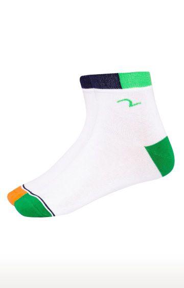 spykar | Spykar Green & Orange Solid Ankle length Socks