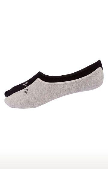 spykar | Spykar Grey and Black Solid Socks - Pack of 2
