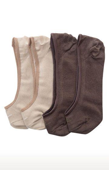 spykar | Spykar Beige and Brown Solid Socks - Pack of 2