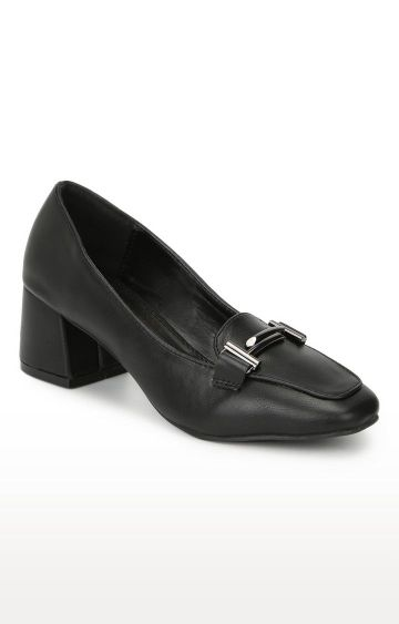 Truffle Collection | Black Block Heels