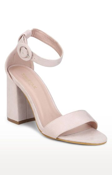 Truffle Collection | Pink Block Heels