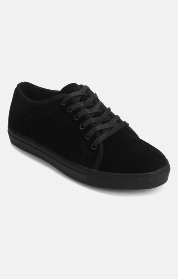 Truffle Collection | Black Velvet Sneakers
