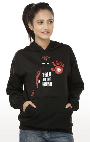 Weardo | Black Printed Sweatshirt