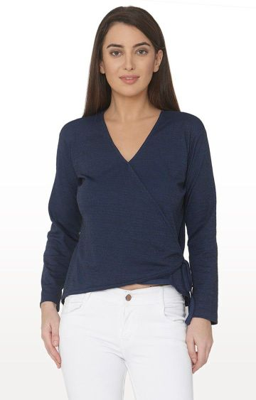 Smarty Pants   Navy Solid Top