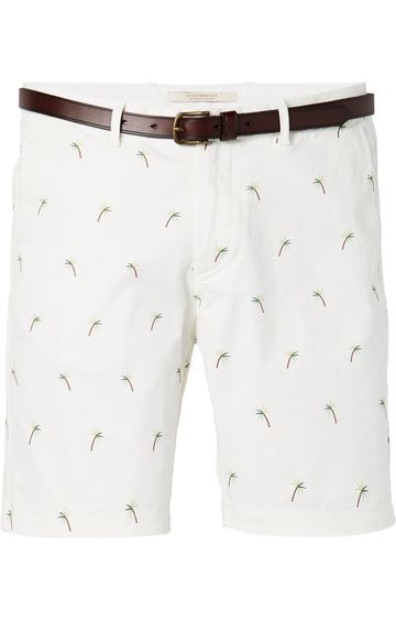 Scotch & Soda | GARMENT DYED CHINO SHORT WITH ALL-OVER M