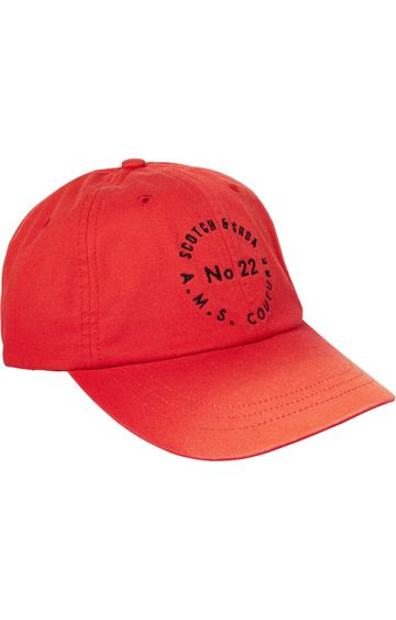 Scotch & Soda | CAP IN TWILL QUALITY WITH WASHING AND EM