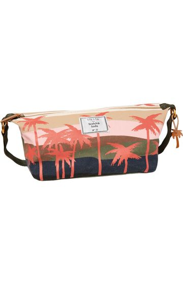 Scotch & Soda | ALLOVER PRINTED CANVAS TOILETRY BAG
