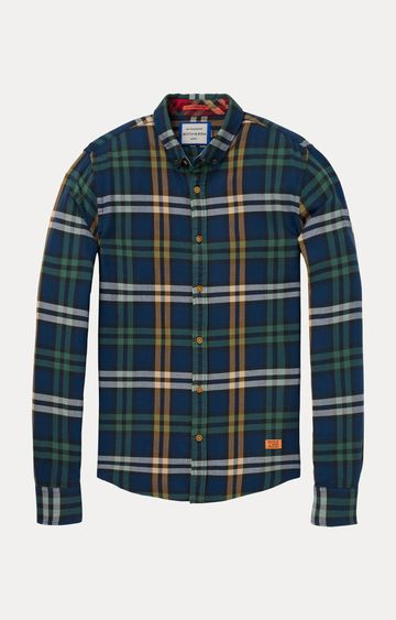 Scotch & Soda | Blue Checked Casual Shirt