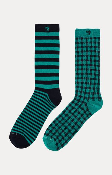 Scotch & Soda | Green Striped Socks - Pack of 2