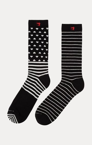 Scotch & Soda | Black Striped Socks - Pack of 2
