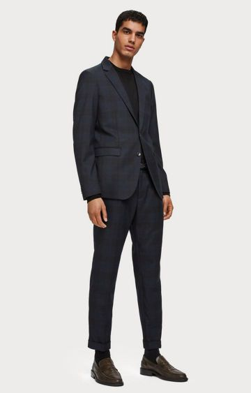 Scotch & Soda | Pleated Wool Blend Trousers  Loose tapered fit