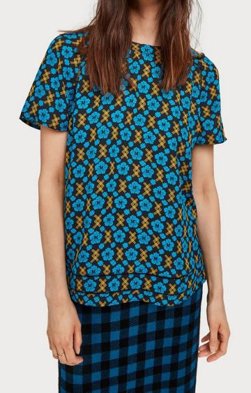 Scotch & Soda | Blue Printed Top