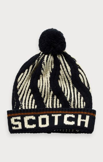 Scotch & Soda | Patterned ski pom-pom beanie