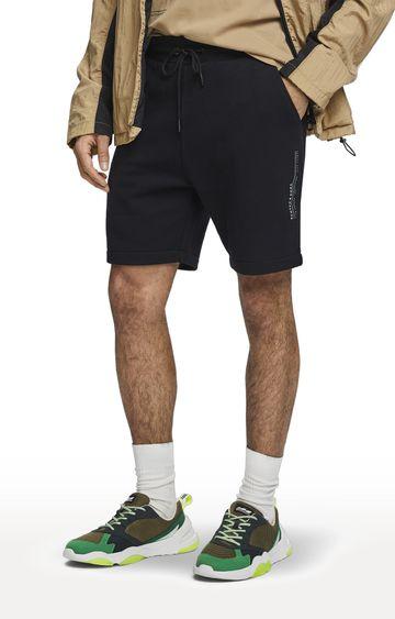Scotch & Soda | Black Solid Club Nomade Easy Sweat Shorts