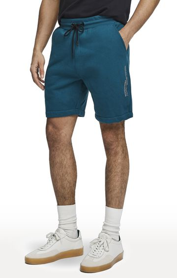 Scotch & Soda | Teal Solid Club Nomade Easy Sweat Shorts