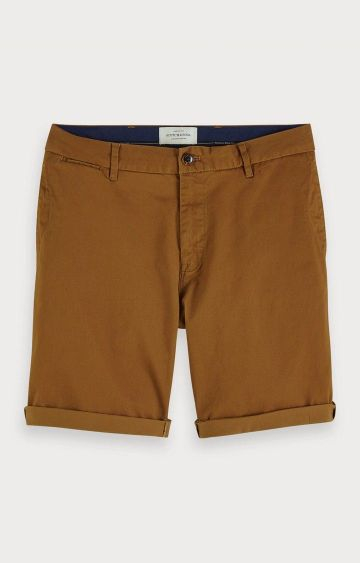 Scotch & Soda | Brown Solid Shorts