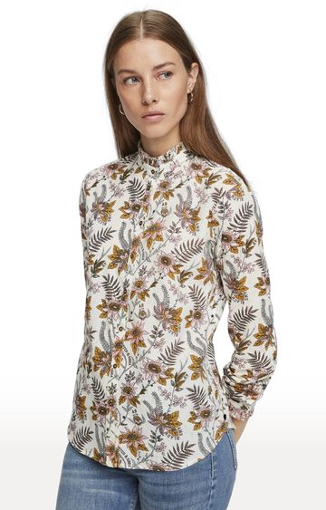 Scotch & Soda | White Printed Casual Shirt