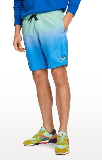 Scotch & Soda | Green and Blue Colourblock Boardshorts