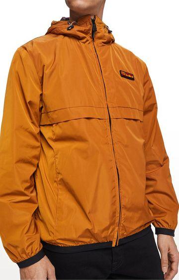 Scotch & Soda | Tabacco Solid Regular Fit Bomber Jacket
