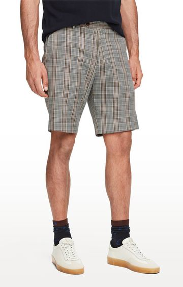Scotch & Soda | Grey Checked Shorts