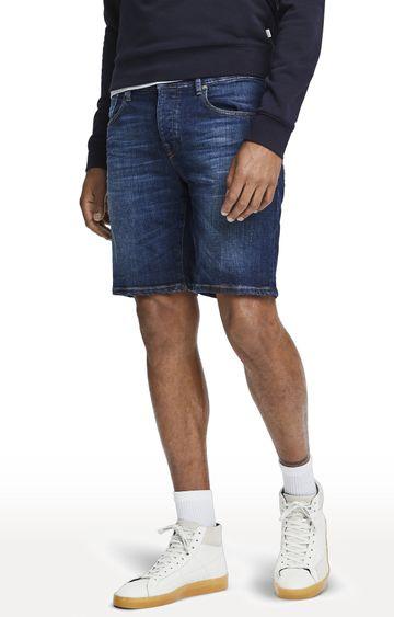 Scotch & Soda   Blue Solid Ralston Shorts