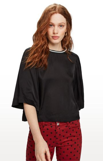Scotch & Soda | Black Solid Top