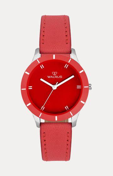 Walrus | Red Analog Watch