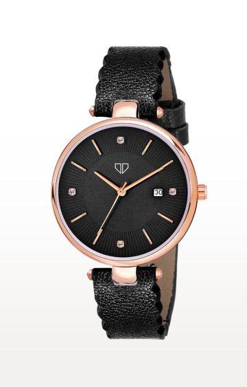 Walrus   Black Venice II Analog Function Premium Quality Trendy Watch