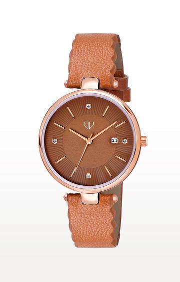 Walrus   Brown Venice II Analog Function Premium Quality Trendy Watch